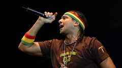 Sean Paul catches up with Robbo Ranx at Sumfest 2014