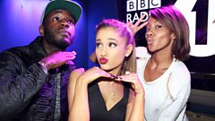 Ariana Grande catches up with Twin B and Yasmin Evans