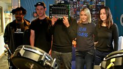 SBTRKT in session for Lauren Laverne