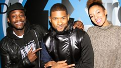 Usher talks new music, the RnB new school and plays Would You Rather with Twin B & Yasmin