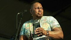 Michael inducts Aaron Neville into the Singers Hall of Fame