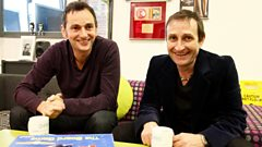 Jim and Saul from James chat to Radcliffe and Maconie