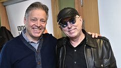 Holly Johnson pays Mark Goodier a 'Fly'-ing visit.