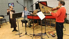 Adrian Butterfield, Rachel Brown and Julian Perkins play Handel live in the In Tune studio