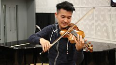 Ray Chen plays the Gavotte en Rondo from Bach's Partita in E major live on In Tune