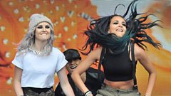 Little Mix's Jade and Perrie on touring - and their new single Hair with Sean Paul
