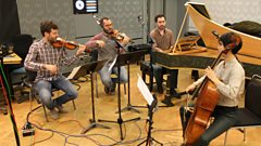 Ensemble Diderot play part of Pachelbel's Partita no.5 in C major live on In Tune