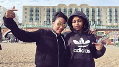 Nadia Rose on the beach at The Great Escape 2016