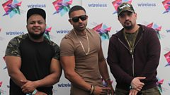 Jay Sean speaks to Kan D Man & DJ Limelight backstage at Wireless Festival