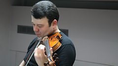 Amusing himself (and us): Vadim Gluzman plays Lera Auerbach live on In Tune.