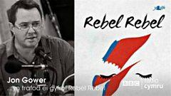 """Jon Gower yn trafod ei gyfrol """"Rebel Rebel""""."""