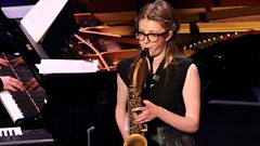 Sensational saxophone skills from Jess Gillam, live on In Tune from London's Southbank Centre