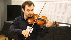 Devilishly difficult Paganini played live on In Tune by Janusz Wawrowski