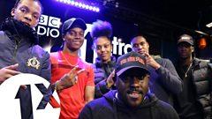 Kenny Allstar w/Poundz, Berna, Dis & Lil M Dot. on BBC 1Xtra