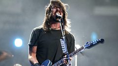 Glastonbury band crash Foo Fighters show