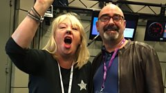 Liz was joined by Bonehead from Oasis