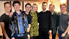 Dutch Uncles in session for Lauren Laverne