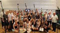 The 40-strong Estonian 'E Stuudio Youth Choir' fill the studio with their sound