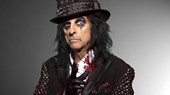 Does Alice Cooper regret his on stage antics?