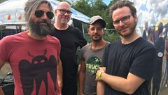 Turin Brakes backstage at Lakefest