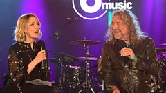 """We've taken psychedelia to a new place"" - Lauren Laverne talks to Robert Plant at 6 Music Live"