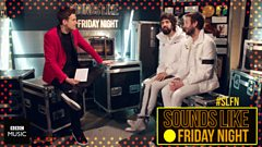 Greg James chats backstage with Kasabian at Sounds Like Friday Night