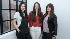 The Staves tell Jo Whiley about when House of Cards star Robin Wright was at their show