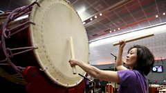 Increase your heart rate with the thunderous sound of Japanese Taiko drumming