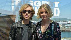 Beck catches up with Lauren Laverne at BBC Music's Biggest Weekend