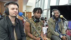 Young Fathers chat with Lauren at BBC Music's Biggest Weekend
