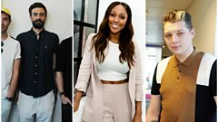 Chris wakes up our 500 Words Final performers John Newman, Alexandra Burke and Bastille