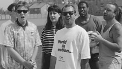 World In Motion's Welsh co-writer Keith Allen on 'E is for England' - his first version of the song