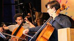 Royal wedding cellist Sheku Kanneh-Mason duets at lightning speed with Guy Johnston