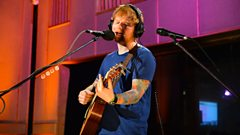 Which star has Ed Sheeran just been recording with?