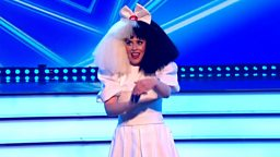 Bbc one lets sing dance for comic relief 2017 episode 4 sara pascoe performs chandelier by sia live final 2017 aloadofball Gallery