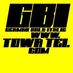 GBI (German Bold Italic)