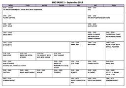 bbc iplayer radio 1 schedule