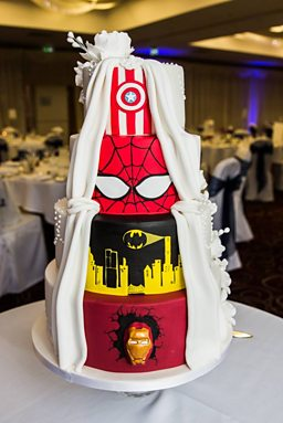 Bbc Arts Get Creative Wedding Cake Is A Superhero In Disguise