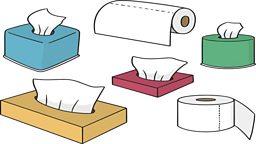 "Different types of 'tissue' 不同种类的""纸巾"""
