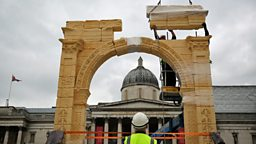 Destroyed Syrian arch rises again in London