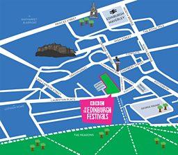Map Of Uk Festivals.Bbc Arts Bbc At The Edinburgh Festivals How To Find Us In Edinburgh