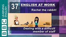 Rachel the rabbit!
