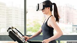 Virtual exercise in the gym 利用虚拟现实技术的新健身体验