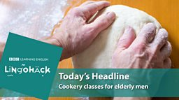 Cookery classes for elderly men