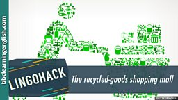 The recycled-goods shopping mall