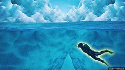 The woman who swims inside icebergs 在冰山里游泳的女潜水员