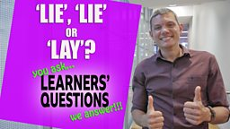 'Lie', 'lie' or 'lay'?