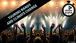 Touring bands and climate change