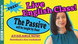 Take an English class: Passives