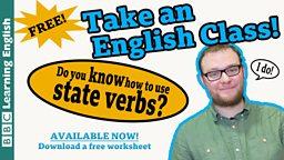 Take an English class: State verbs